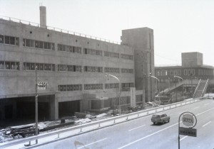 金沢区総合庁舎建設風景(1971年3月16日撮影、金沢区役所提供)